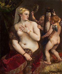 Venus z lustrem oryginał